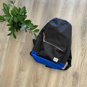 Herschel Black Backpack with Blue Bottom Detail